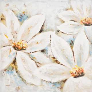 Pastel Florals Oil Painting on Canvas
