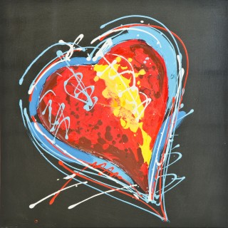 Heart In Living Colour Oil Painting on Canvas