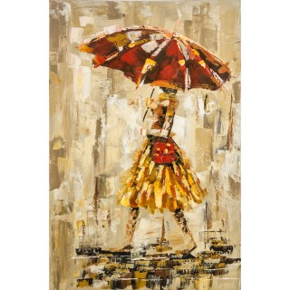 Reflections In The Rain  Oil Painting on Canvas