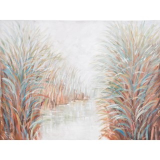 Along The Riverbank Oil Painting on Canvas