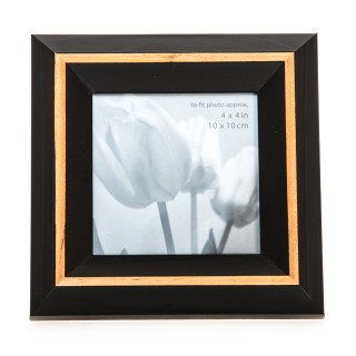 Casa Natural Picture Frame 4x4, White/natural