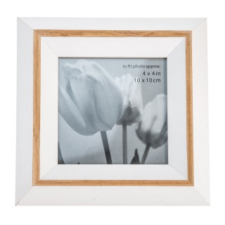 Casa Natural Picture Frame 4x4, Black/natural