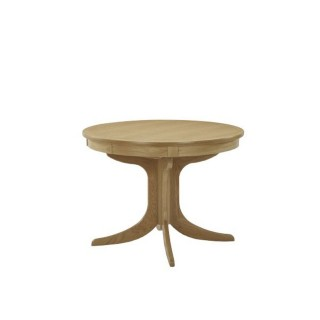 Nathan Shades Oak Circular Pedestal Table