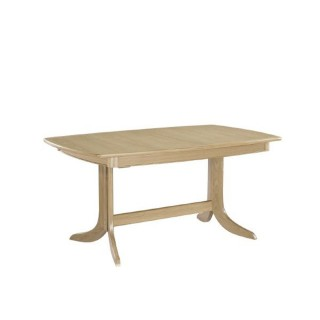 Nathan Shades Oak Extending Boat Shaped Pedestal Table