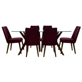 Casa Trieste Glass Table & 6 Chairs