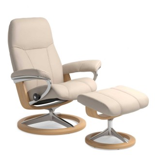 Stressless Consul Small Chair & Stool