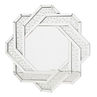 Casa Crystal Plait Round Mirror