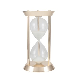Casa Gold Metal & Glass Hourglass, Gold