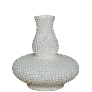 Casa Mother Of Pearl Decor Vase, White