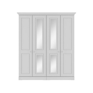 Casa Clovelly Tall 4 Door Mirror Wardrobe