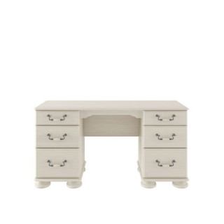 Casa Chloe Dbl Ped Dressing Table Dresstable, Antique Cream