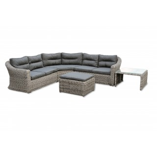 Garden Trading Lodsworth Corner Sofa Set, Clay/Blue