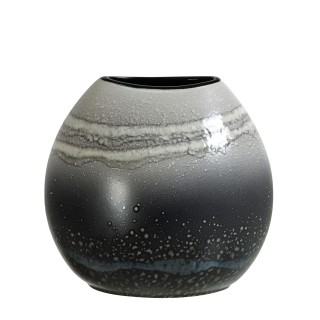 Poole Pottery Aura  Purse Vase 20cm, Grey