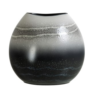 Poole Pottery Aura  Purse Vase 26cm, Grey