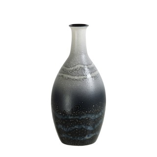 Poole Pottery Aura  Tall Bottle Vase 26cm, Grey
