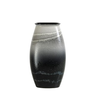 Poole Pottery Aura  Manhattan Vase 26cm, Grey