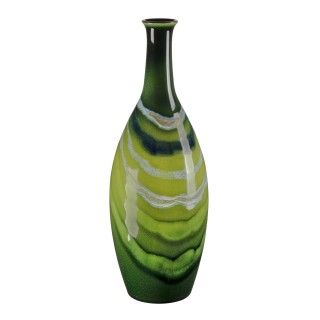 Poole Pottery Maya Tall Bottle Vase 26cm, Green