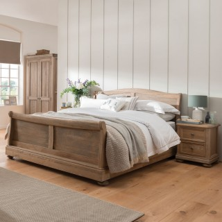 Casa Hunter Double Sleigh Bed Frame Oak Double