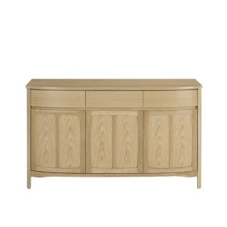Nathan Furniture Limited Shades Oak 3 Door Sideboard Sideboard, Oak