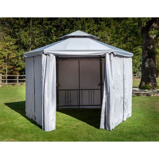 Hartman Hexagonal Garden Gazebo, 3.5m, Grey
