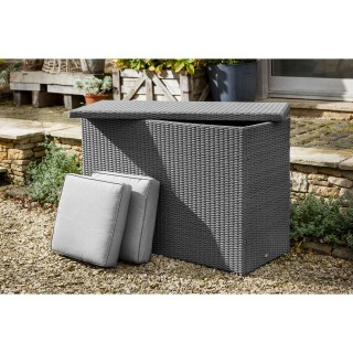 Casa Large Cushion Storage Box, Slate/ Stone