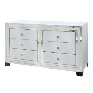 Casa Blanco 6 Drawer Wide Chest