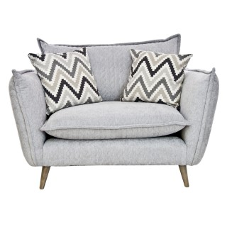 Whitemeadow Roma Snuggler Chair, Silver