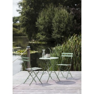 Garden Trading Rive Droite Small Bistro Set, Greengage