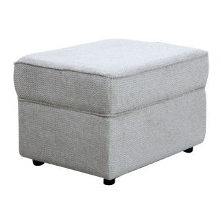Casa Alpha Storage Footstool Footstool, Rich Stone/dark Foot