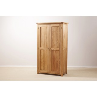 Casa Seville Full Length 2 Door Wardrobe, Oak