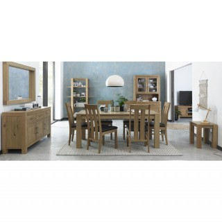 Casa Toledo Med End Table+6 Chairs Dining Set