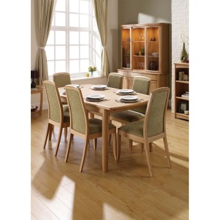 Nathan Furniture Limited Shades Table & 6 Chairs Dining Set