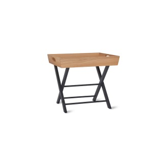 Garden Trading Butlers Side Table, Oak, Carbon
