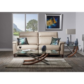 Casa Hugo 3 Seater Power Recliner Sofa, Nougat