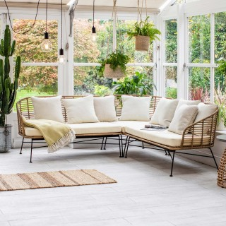 Garden Trading Hampstead Corner Sofa, Cream