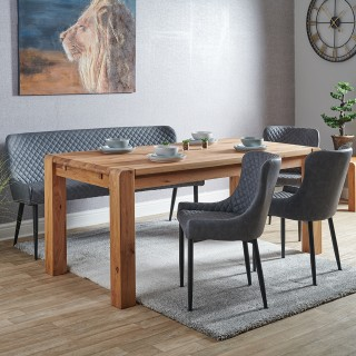 Casa Canberra Table, Bench & 3 Chairs Dining Set