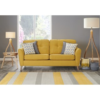 Casa Saffron 3 Seater Fabric Sofa