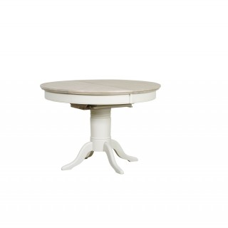 Lilly Round Extending Dining Table, Grey