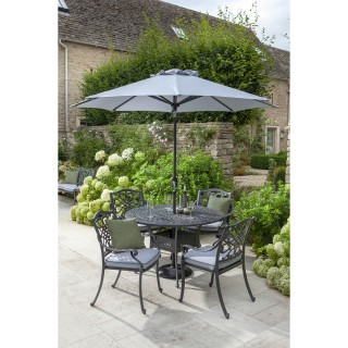 Hartman Capri 4 Seater Garden Dining Set, Grey/ Platinum