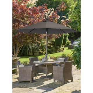 Kettler Palma 4 Seater Garden Dining Set, Whitewash