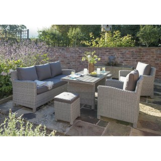 Kettler Palma Sofa Garden Set, Whitewash