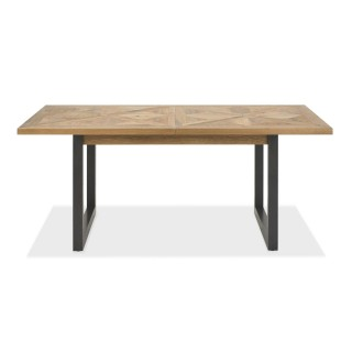 Casa Finsbury 6-10 Seater Table, Rustic Oak & Peppercorn