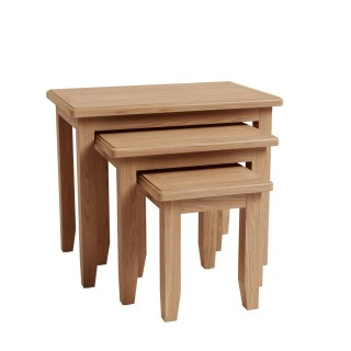 Casa Kington Nest Of 3 Tables, Brown