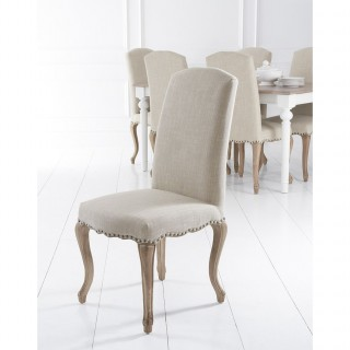 Casa Luxury Studs, Carved Legs Chair x 2 , Beige