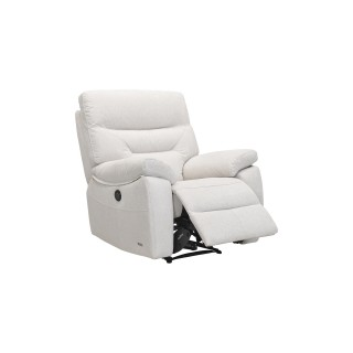 Casa Indianna Power Recliner Fabric Chair, Shell