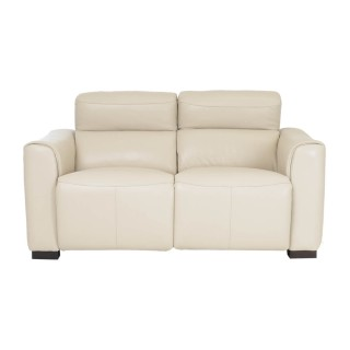Casa Charlie 2 Seater Power Recliner Leather Sofa, Beige