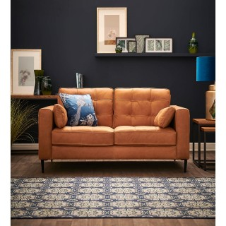 Casa Rupert 2 Seater Leather Sofa, Brown