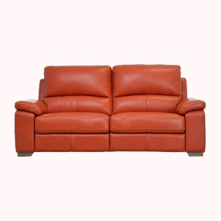 Casa Megan 2.5 Seater Power Recliner Leather Sofa, Orange