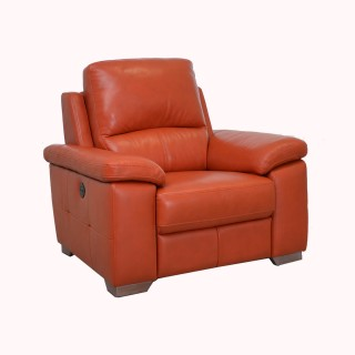 Casa Megan Power Recliner Leather Chair, Orange