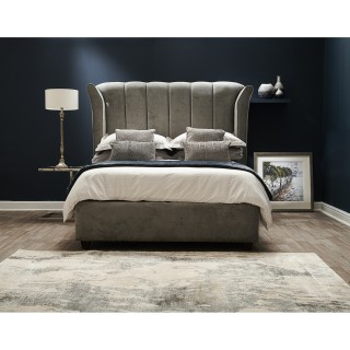Casa Montana Bed Frame, Double, Comet Silver